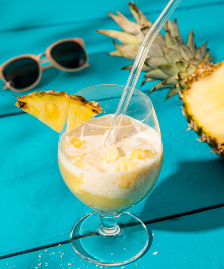 Glassig pina colada-float