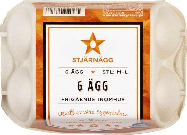 Ägg 6-Pack Frigående M/L
