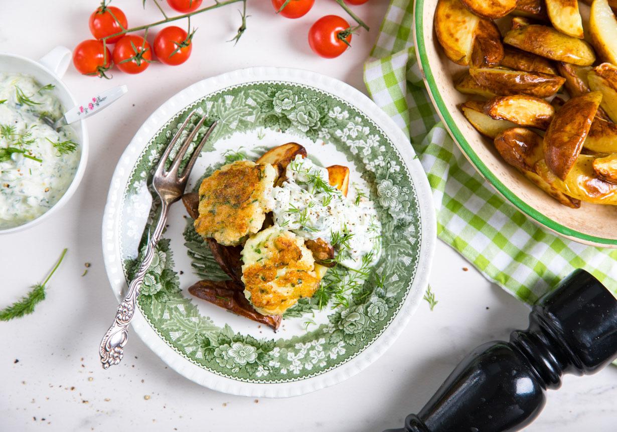 mager pajdeg med potatis